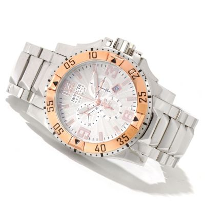 620-055 - Invicta Reserve Men's Excursion Swiss Made Quartz Chronograph Stainless Steel Bracelet Watch
