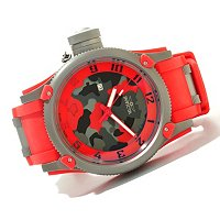 INVICTA MEN'S RUSSIAN DIVER OFF SHORE SWISS QUARTZ CAMO EDITION POLY STRAP WATCH