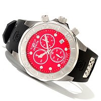 INVICTA MEN'S GRAND DIVER SWISS QUARTZ CHRONO POLYURETHANE STRAP WATCH