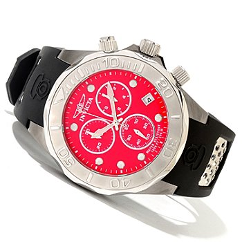 620-058 - Invicta Men's Grand Diver Swiss Quartz Chronograph Stainless Steel Polyurethane Strap Watch