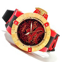INVICTA MEN'S SUBAQUA NOMA III ARTIST DRAGON QUARTZ SILICONE STRAP WATCH