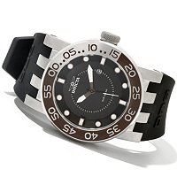 INVICTA MEN'S DNA DIVER QUARTZ MOVEMENT STAINLESS CASE SILICONE STRAP WATCH