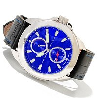 Android Men's Velocity Power Reserve Automatic Leather Strap Watch