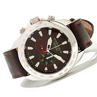Android Men's Velocity Lefty Quartz Chronograph Leather Strap Watch