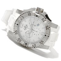 INVICTA MEN'S EXCURSION QUARTZ CHRONO STAINLESS CASE POLYURETHANE STRAP WATCH