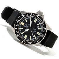 DEEP BLUE MEN'S T-100 TRITIUM FLAT TUBE AUTOMATIC SILICONE STRAP WATCH