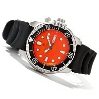 DEEP BLUE MEN'S PRO TAC DIVER 1K METER POLYURETHANE STRAP WATCH