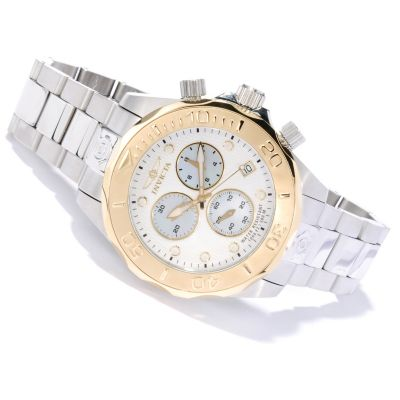 620-121 - Invicta Men's Grand Diver Swiss Made Quartz Chronograph Stainless Steel Bracelet Watch