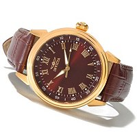 INVICTA MEN'S SPECIALTY CLASSIC QUARTZ LEATHER STRAP WATCH