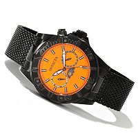 INVICTA MEN'S SEA WIZARD QUARTZ MULTIFUNCTION STAINLESS MESH BRACELET WATCH