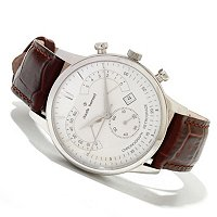 Claude Bernard Men's Classic Swiss Made Quartz Leather Strap Watch
