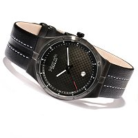 Johan Eric Men's Skive Quartz Leather Strap Watch