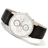 Johan Eric Men's Streur Multifunction Quartz Leather Strap Watch