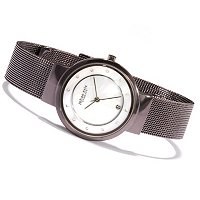 Johan Eric Women's Arhus MOP Quartz Stainless Steel Bracelet Watch