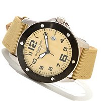 Stuhrling Original Men's Pilot Ace Quartz Canvas Strap Watch