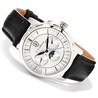 S. COIFMAN MEN'S QUARTZ MULTIFUNCTION LEATHER STRAP WATCH
