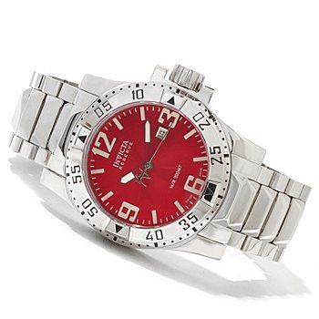 620-187 - Invicta Reserve Men's Excursion High Polish Swiss Made Quartz Stainless Steel Bracelet Watch