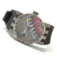 "INVICTA MEN'S DNA ""BOMBER"" QUARTZ SILICON STRAP WATCH"