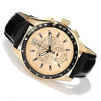 INVICTA MEN'S SPECIALTY QUARTZ CHRONOGRPAH LEATHER STRAP WATCH