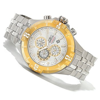 620-273 - Invicta Men's Pro Diver XXL Quartz Chronograph Stainless Steel Bracelet Watch