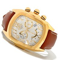 INVICTA MEN'S DRAGON LUPAH QUARTZ CHRONO LEATHER STRAP WATCH