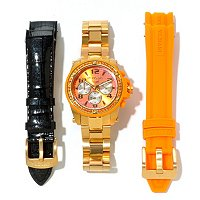 INVICTA WOMEN'S ANGEL QUARTZ MULTIFUNCTION BRACELET WATCH W 2 STRAPS