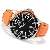 INVICTA MEN'S SPECIALTY OCEAN DIVER QUARTZ LEATHER STRAP WATCH W/ 8DC