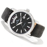 JEAN MARCEL MEN'S CLARUS SWISS MADE LTD ED AUTOMATIC STINGRAY STRAP WATCH