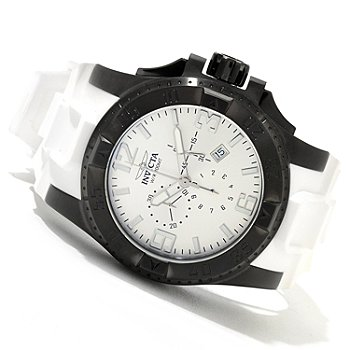 620-325 - Invicta Men's Excursion Quartz Chronograph Stainless Steel Polyurethane Strap Watch