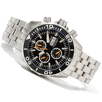 620-347 - Deep Blue Men's T-100 Tritium Recon 65 Valjoux 7750 316L Stainless Steel Bracelet Watch