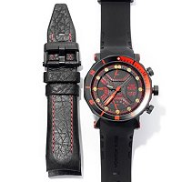 Vostok-Europe Men's Lunokhod II Multi-fuction Chronograph Diver's Strap Watch