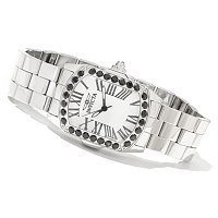 INVICTA WOMEN'S LUPAH BLACK SPINEL STAINLESS STEEL BRACELET WATCH