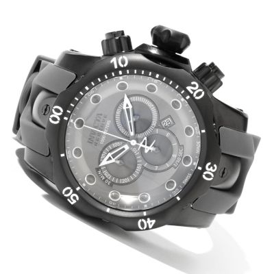 620-388 - Invicta Reserve Men's Venom Monotone Swiss Made Quartz Chronograph Stainless Steel Strap Watch