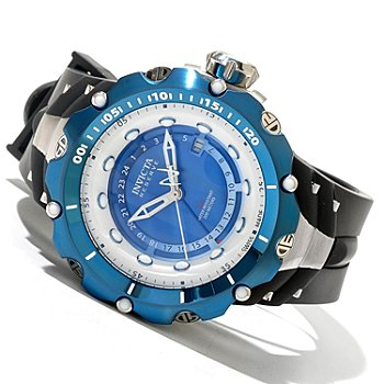 620-390 - Invicta Reserve Men's Venom Generation II Swiss Made Quartz GMT River Pearl Dial Strap Watch