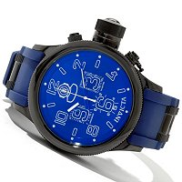 INVICTA MEN'S RUSSIAN DIVER QUARTZ CHRONO RUBBER STRAP WATCH