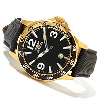 INVICTA MEN'S SPECIALTY DIVER QUARTZ DATE LEATHER STRAP WATCH W/8DC