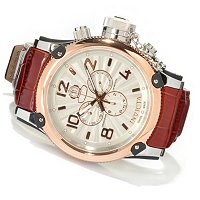 INVICTA MEN'S RUSSIAN DIVER ELEGANT SWISS MADE QUARTZ CHRONO STRAP WATCH