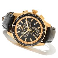 INVICTA MEN'S SPECIALTY DIVER QUARTZ CHRONOGRAPH STRAP WATCH W/COLLECTORS BOX