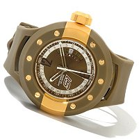INVICTA MEN'S SI RALLY MONOTONE SWISS MADE QUARTZ GMT PU STRAP WATCH