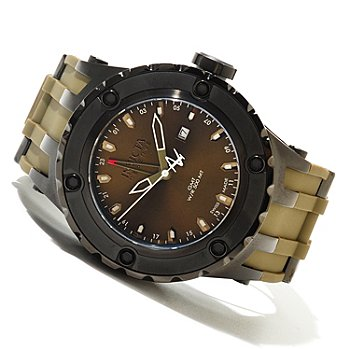 620-420 - Invicta Reserve Men's Subaqua Sport Swiss Made Quartz GMT Polyurethane Strap Watch