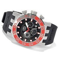 INVICTA MEN'S DNA DIVER QUARTZ CHRONOGRAPH SILICONE STRAP WATCH W/3DC