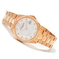 Stuhrling Original Women's Lady Clipper Pearl Quartz Bracelet Watch