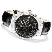 Stuhrling Prestige Men's Sparta Swiss Made Quartz Leather Strap Watch