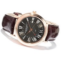 Stuhrling Prestige Men's Laureate GMT Swiss Made Quartz Strap Watch