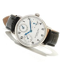 Stuhrling Original Men's Coronate Mechanical Leather Strap Watch