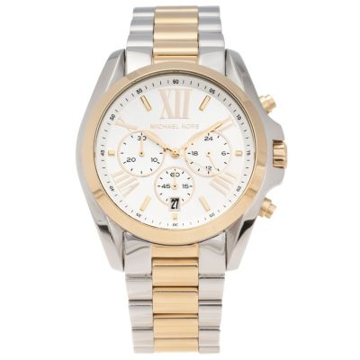 620-454 - Michael Kors Women's Bradshaw Quartz Chronograph Two-Tone Stainless Steel Bracelet Watch