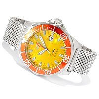 INVICTA MEN'S PRO DIVER QUARTZ GMT STAINLESS MESH BRACELET WATCH