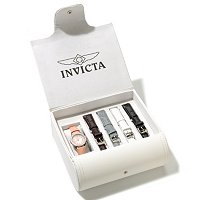 INVICTA WOMEN'S ANGEL QUARTZ MOP DIAL 5PC STRAP WATCH