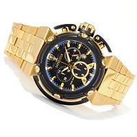 IMPERIOUS MEN'S X-WING SWISS QUARTZ CHRONO CARBON FIBER DIAL BRA WATCH