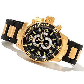 620-496 - Invicta Men's Corduba Quartz Chronograph Stainless Steel & Polyurethane Bracelet Watch
